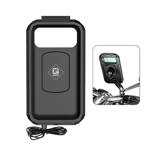 Image 2 - 2021 New Waterproof Motorcycle Wireless 15W Qi/ Type C PD Charger Phone Mount Holder Box