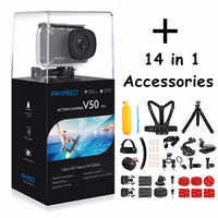 AKASO V50 PRO 4K Cam 30FPS Touch Screen WIFI Outdoor Sport Action Camera With Els Ultra HD Waterproof DV 20M+ Selfie Stick Gifts