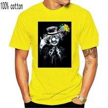 Free Mind-camisa psicodélica para Rave, remera brillante con luz negra Uv, camiseta para exteriores de payaso Edm