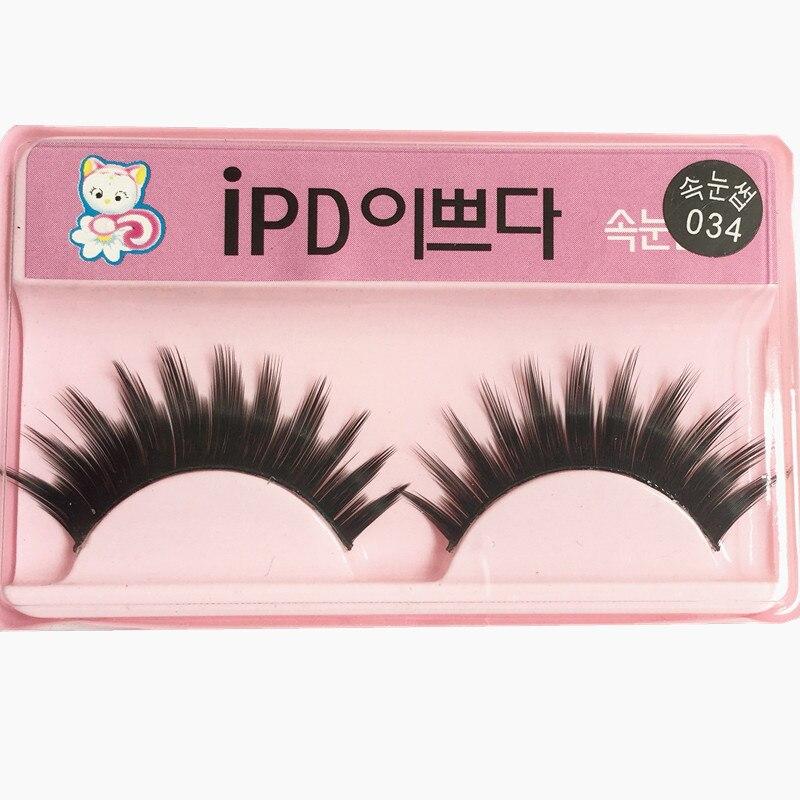 034 # South Korea Cat False Eyelashes 11 Tip Eye End Lengthened Encryption-Manufacturers Direct Selling A Box 10-Pack