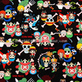 Аниме цельный череп 100% хлопчатобумажная ткань пэчворк печатная ткань шитье материал для «сделай сам» женское платье детская одежда