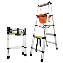 Home Herringbone Ladder Aluminum alloy Thickening Walkable Engineering Ladder Household Folding Telescopic Ladder (1.4m/1.7m/2m)