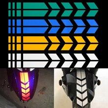Наклейки на мотоцикл, светоотражающие наклейки на колеса, наклейки на крыло, мотоциклетные наклейки на стрелу, Предупреждение льная лента для безопасности автомобиля, водонепроницаемые украшения, аксессуары