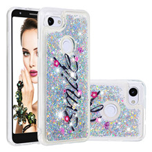 Luxury Phone Cases For Google Pixel 3a Case For Google 3a XL Liquid Quicksand Glitter Bling Paint Soft TPU Back Cover Coque Gift