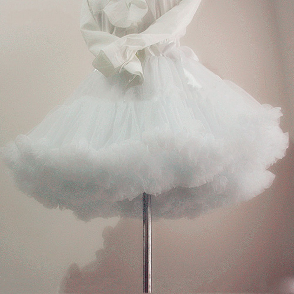 Underskirt Tutu Short Crinoline Halloween-Petticoat Tulle Rockabilly Wedding Vintage