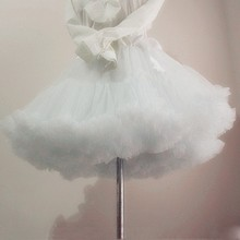 Underskirt Tutu Short Crinoline Halloween-Petticoat Tulle Rockabilly Wedding White Women