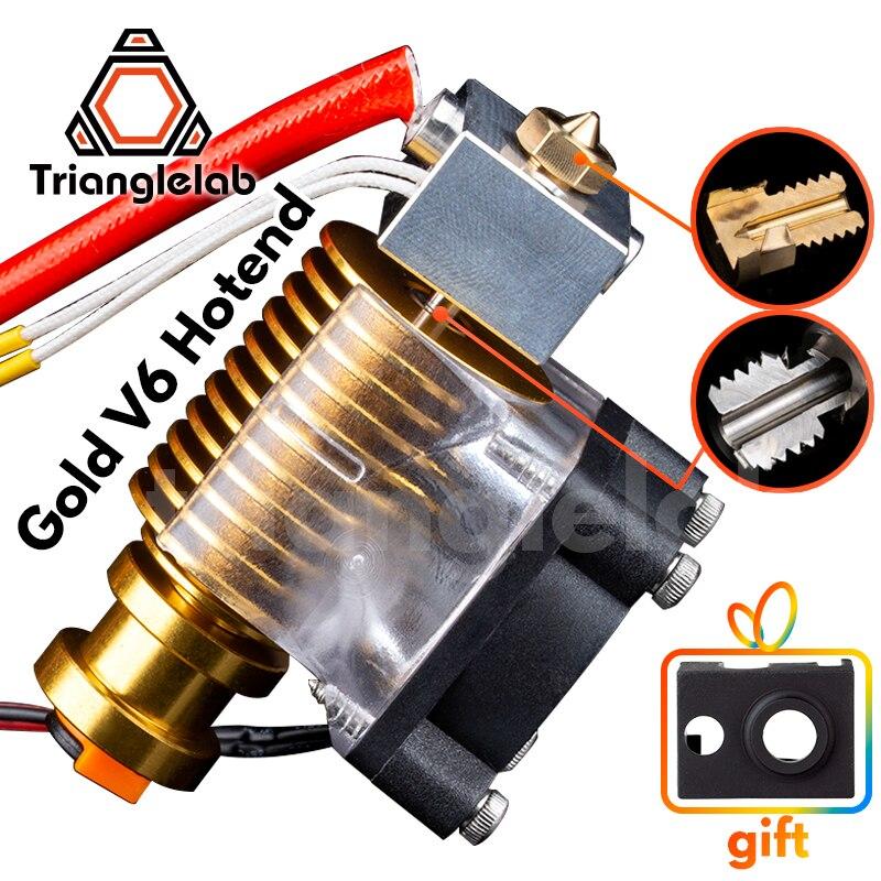 V6 gold HeatSink v6 hotend 12V 24V remote Bowen J-head and cooling fan bracket for E3D HOTEND for PT100 titan extruder V6 nozzle