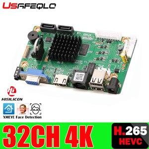 Image 1 - 32CH 4K פנים CCTV NVR לוח Hi3536 2 SATA יציאות ONVIF אבטחת וידאו מקליט לוח 32CH /4K/5MP/1080P וידאו קלט 1CH אודיו I/O