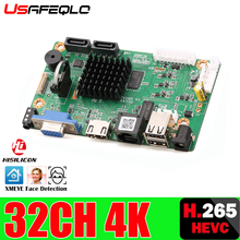 32CH 4K Viso CCTV NVR Bordo Hi3536 2 Porte SATA ONVIF Sicurezza Scheda Video Registratore 32CH /4K/5MP/1080P Video di Ingresso 1CH Audio I/O