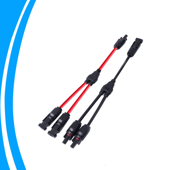 A Pair of 20A Waterproof Solar Panel Solar Connector IP67 4mm Solar Panel Adaptor Cable with Female and Male Connectors