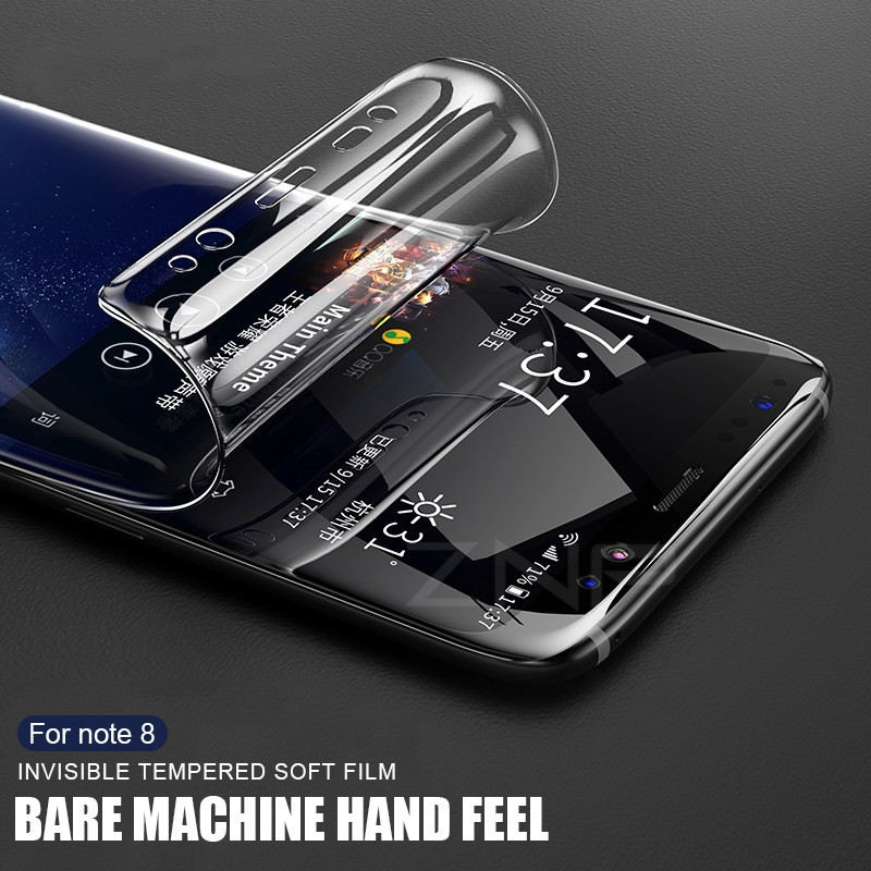 2pcs Protective Film For Samsung Galaxy Note 8 S8 S9 Plus Soft Full Curved  Film ( Not Glass ) Specialty Tools