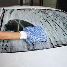 부드러운 흡수성 장갑 고밀도 자동차 청소 매우 부드럽고 건조하기 쉬운 자동 디테일링 마이크로 화이버 광기 워시 미트 천