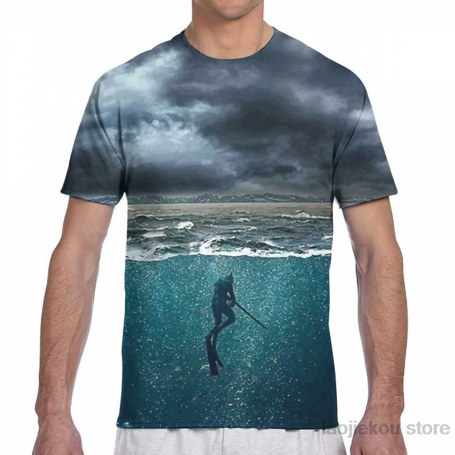 Spearfishing mannen T-Shirt vrouwen all over print mode meisje t-shirt jongen tops tees zomer Korte Mouw t-shirts