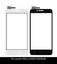 Dokunmatik ekran Digitizer için Lenovo Vibe C A2020 A2020a40 dokunmatik ön cam sensörü paneli değiştirme