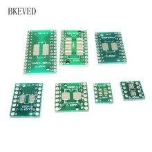 35pcs=7value*5pcs PCB Board Kit SMD Turn To DIP SOP MSOP SSOP TSSOP SOT23 8 10 14 16 20 24 28 SMT To DIP