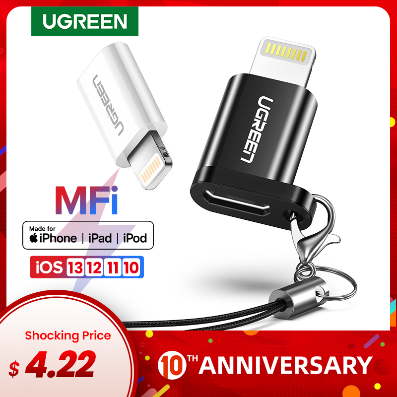 Ugreen USB Adapter For IPhone 8 Lightning To Micro USB For IPhone 11 Pro XS 7 Adapter Fast Charging Data Sync For IPad USB Cable