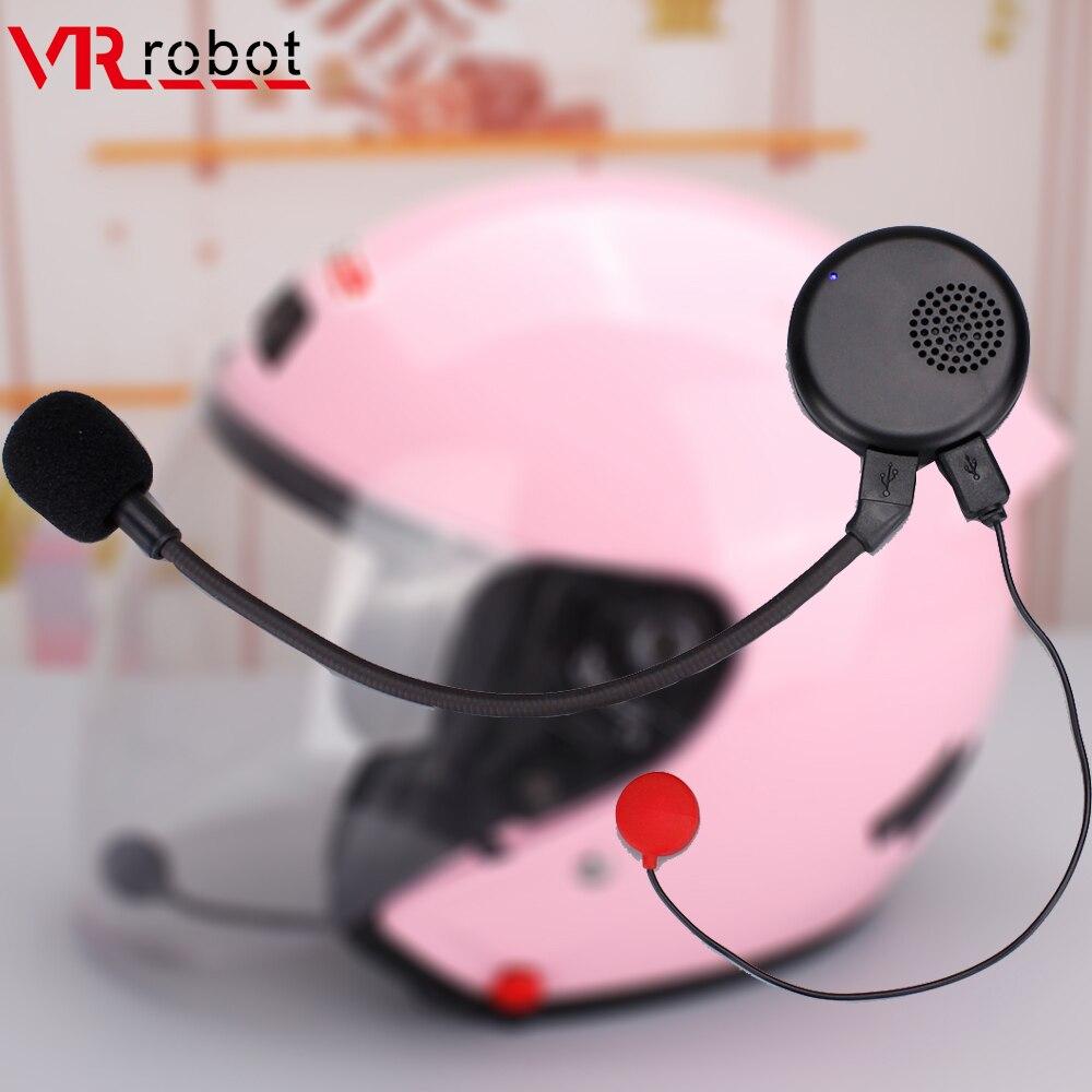 VR Robot Bluetooth Motorcycle Half Helmet Headset Moto Wireless Handsfree Noise Cancelling Headphones For Music Motorbike Rider