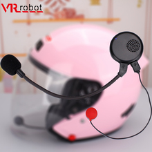 все цены на VR robot Bluetooth Motorcycle Half Helmet Headset Moto Wireless Handsfree Noise Cancelling Headphones for Music Motorbike Rider онлайн