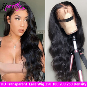 Upretty Hair HD Transparent Lace Frontal Wig Body Wave 13X6 Lace Front Human Hair Wigs Brazilian 28 30 Inch 13x4 Lace Front Wig