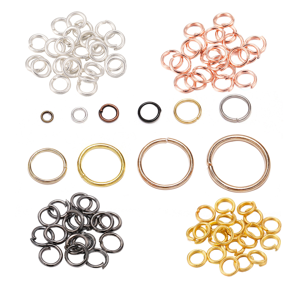 200pcs/lot 4 5 6 8 10 mm Jump Rings Silver Split Rings Connectors For Diy Jewelry Finding Making Accessories Wholesale Supplies