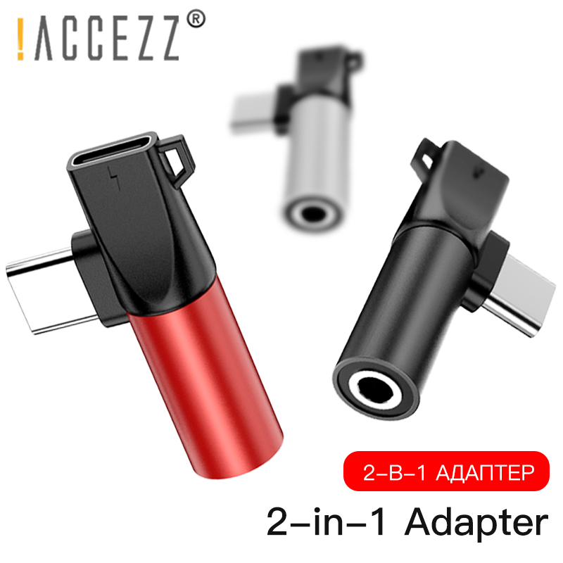 !ACCEZZ Type C To 3.5mm Jack Adapter USB For Xiaomi Note 7 Mi 9 6 Huawei P20 Type-C OTG Charging Cable Jack Earphone Extension