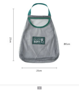 Fruit, vegetable, scallion and ginger in kitchen bag Simple reusable mesh kitchen storage bag Kitchen Storage Bag