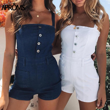Rompers Women Overalls Jeans Jumpsuit Aproms Summer Sexy Denim Bodycon Elegant Straight