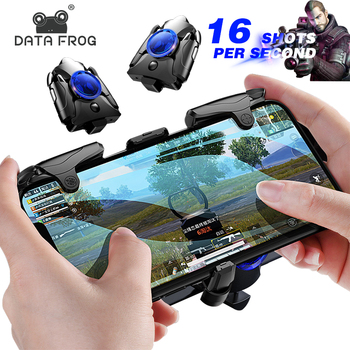 DATA FROG Mobile Phone Gaming Trigger L1R1Shooter Pubg Controller for PUBG Gamepad Game Turbo Fire Button 16 Shots Per Seconds