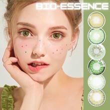 Bio-essence-2 lentes de Color verde para ojos, Lentillas de colores Naturales, Naturales