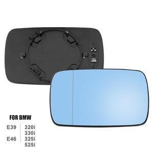 Image 2 - X Autohaux 1 Pair Side Mirror Glass with Backing Plate Heated for BMW E39 E46 320i 330i 325i 525i