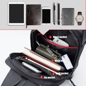 Image 2 - ARCTIC HUNTER 2019 USB Waterproof Men Chest Bag Male Leisure Messenger Shoulder Bag Crossbody Bolsas For Teenagers Travel