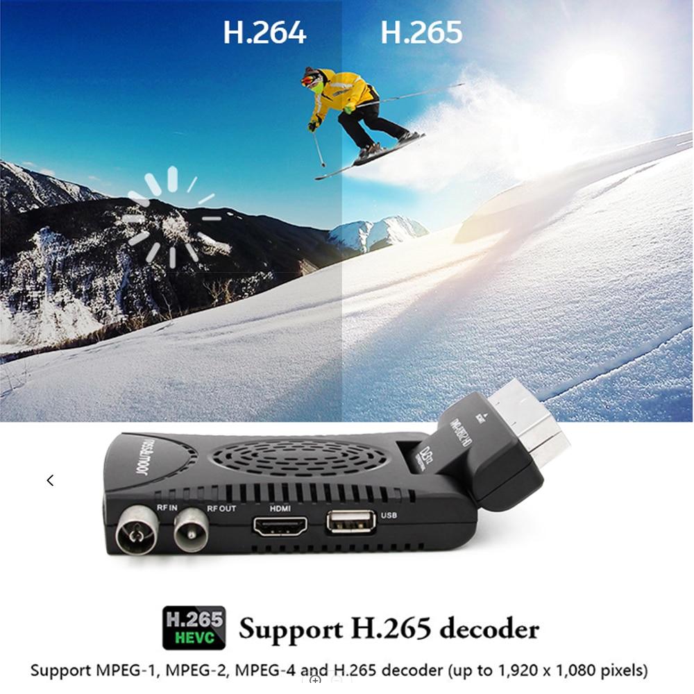 DVB-T2 H265 Scart TV Tuner Box Digital Terrestrial Receptor WIFI Receiver Youtube Set Top Box 1080P IPTV Box 12