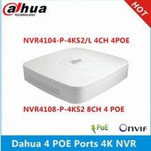 Dahua NVR4104-P-4KS2/l 4ch com 4 poe NVR4108-P-4KS2 8ch com 4poe portas max 8mp resolução 4k h.265 gravador de vídeo em rede