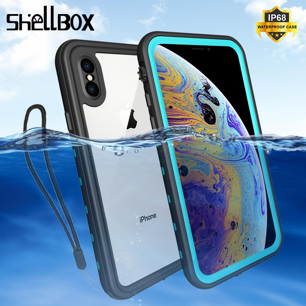 SHELLBOX IP68 Waterproof <font><b>Case</b></font> For iPhone 11 Pro Max X XR XS MAX 8 7 Cover Pouch Bag <font><b>Cases</b></font> For <font><b>Phone</b></font> Coque <font><b>Water</b></font> <font><b>proof</b></font> <font><b>Phone</b></font> <font><b>Case</b></font> image