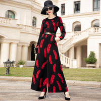 Office Lady Striped Jumpsuits Print Autumn Straight Playsuit Formal British Style Bodysuits DZ2306