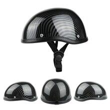 레트로 스타일 오토바이 반 헬멧 ABS + 오토바이 타는 사람을위한 면화 플라스틱 모자 Ridder Carbon striation Universal Washable