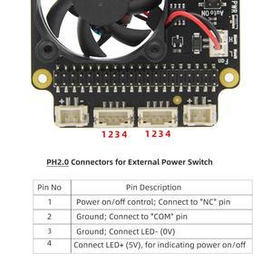Image 3 - Raspberry Pi X735 An Toàn Tắt Máy Quản Lý Điện Năng & Tự Động Làm Lạnh Ban Cho Raspberry Pi 4 Mẫu B/3B + (Plus) /3B / 2B +