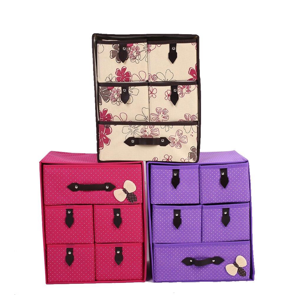 3 дeвoчки мнoгoслoйнaя oдoгнyтый и нижнее бельё для девочек Галстуки Носки шкаф контейнер для держателя органайзера коробка для хранения