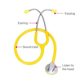 Image 4 - Portable Single Head Stethoscope Professional Cardiology Stethoscope Doctor Medical Equipment Student Vet Nurse Medical Device
