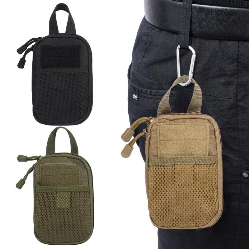 600D Nylon Tactical Bag Outdoor Military Waist Fanny Pack Phone Key Mini Tools Waterproof Airsoft Sport Hunting Pouch