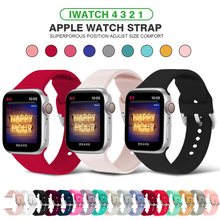 Suitable for Apple 38mm 42mm iWatch 5 strap 44mm 40mm U-shaped buckle sports silicone wristband watch 4 Strap accessories