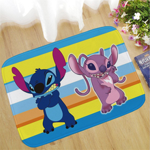 60x40cm Stitch Welcome Doormat Outdoor Carpet Absorbent Bathroom Floor Mats Kitchen Rug Non-slip Bedroom  Foot Mat  Rug