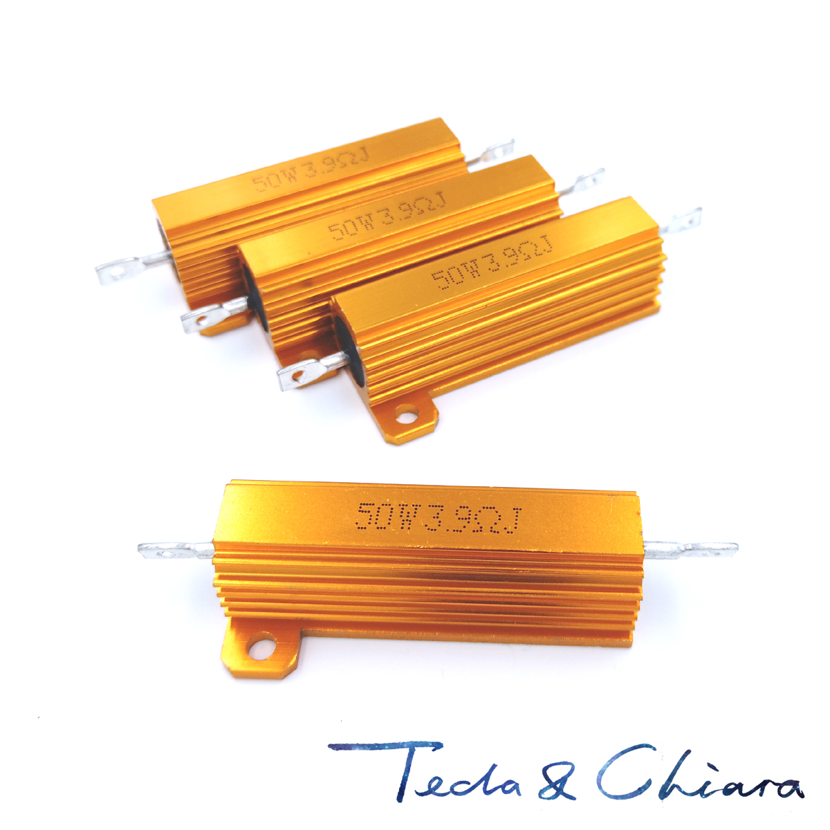 2Pcs 20R 20ohm 20 200R 200ohm 200 R Ohm 50W Aluminum Power Metal Shell Case Wirewound Resistor Resistance RX24