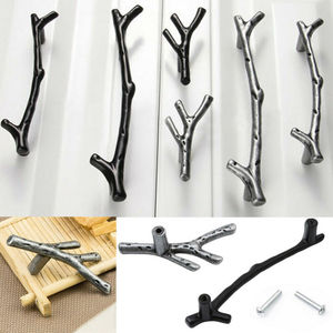 Poignées de branches d'arbre en alliage de Zinc | De style artistique, boutons de traction pour meubles, porte de cuisine, armoire placard, tiroir de meuble