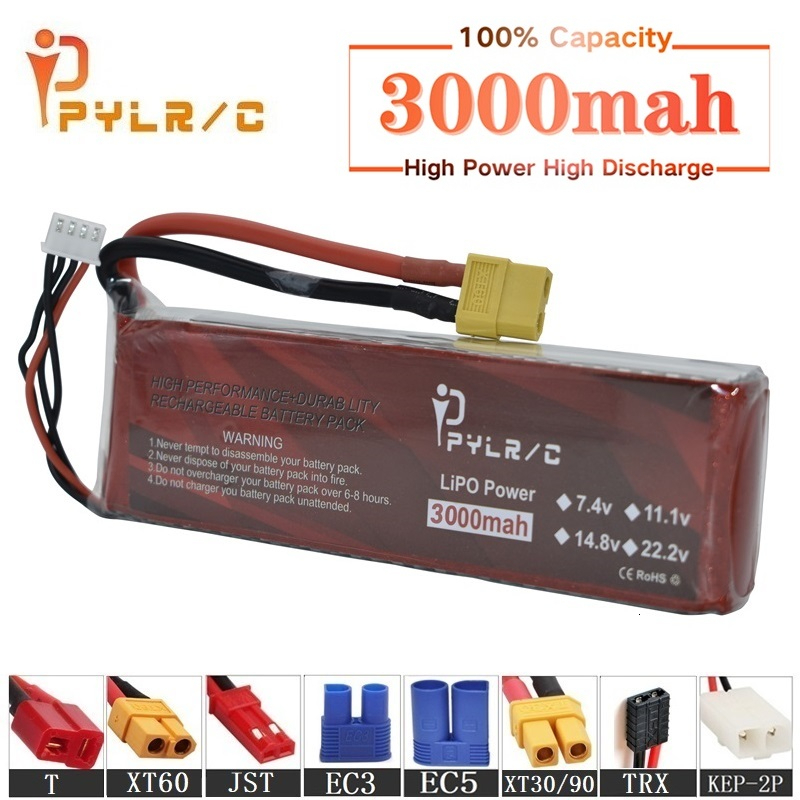 High Rate 11.1v 3000mAh Lipo Battery For RC Helicopter Parts 3s Lithium battery 11.1v 45C RC Cars Airplanes Drone Battery T/XT60(China)