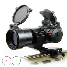 New Outdoor Hunting High Quality Aluminum Alloy Structure Tactical Red Green Dot Sight With 5 Levels Brightness Adjustable.