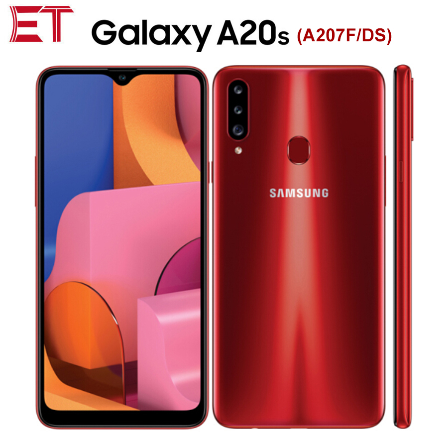 """Global Version Samsung Galaxy A20s A207F DS Mobile Phone 6.5"""" 3GB RAM 32GB ROM Snapdragon450 OctaCore 4000mAh 13MP Android phone