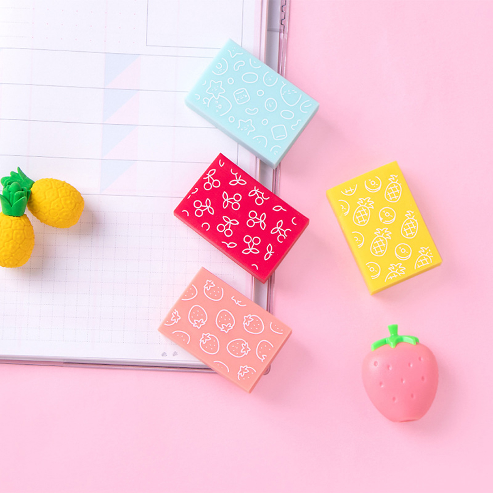 1 Pcs Toffee Eraser Creative Cute Student With No Traces Like Skin Rub Without Debris Creative Cute Stationery Candy Eraser