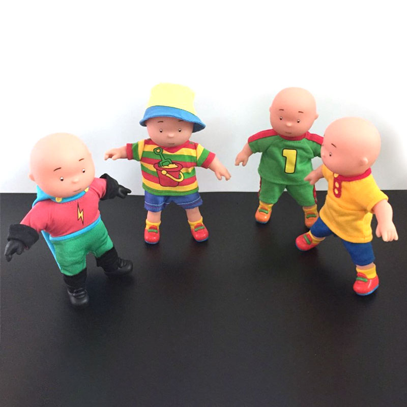 16cm 4 Style Cartoon Action Figure Model Toys Caillou PVC Figure Model Toy For Gift Kids Collection