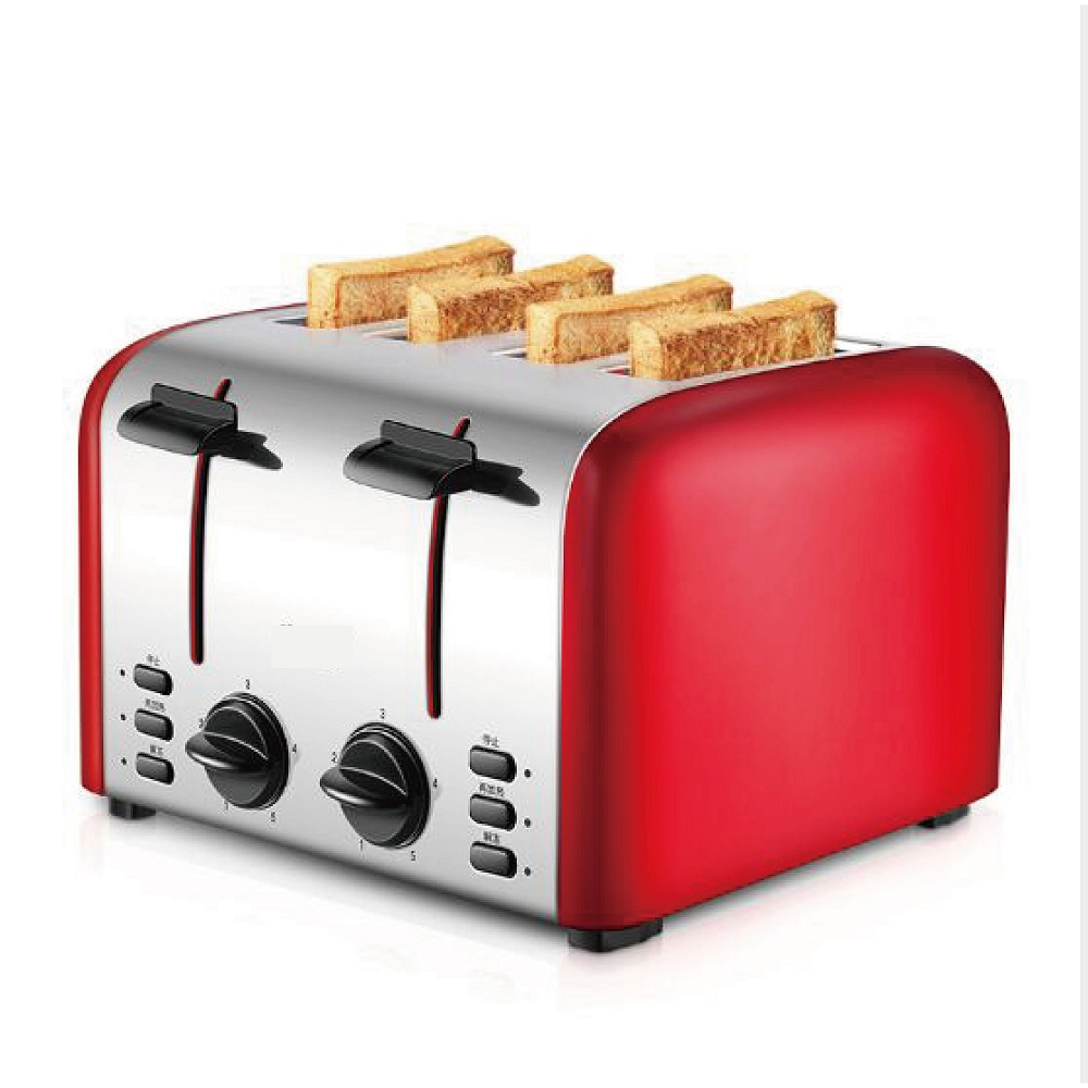 Home toaster 4 pieces toast automatic breakfast maker household kitcken baker 220V